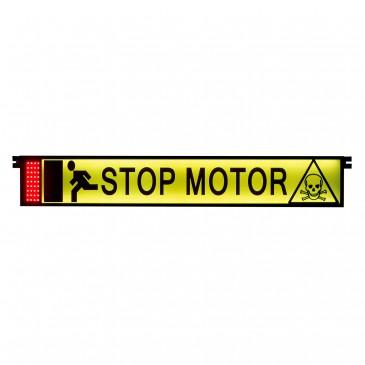 LUTO Signaalbord 'Stop motor'